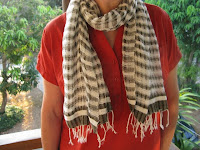 handwoven, organic cotton scarf from Pattanarak Foundation in Thailand