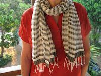 handwoven, organic cotton scarf from Pattanarak Foundation in Thailand