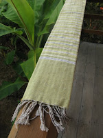handwoven, naturally dyed, fair trade table runner