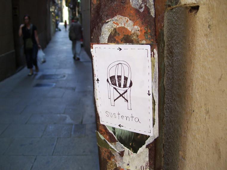 intervenção urbana/bairro gótico/Barcelona/2007