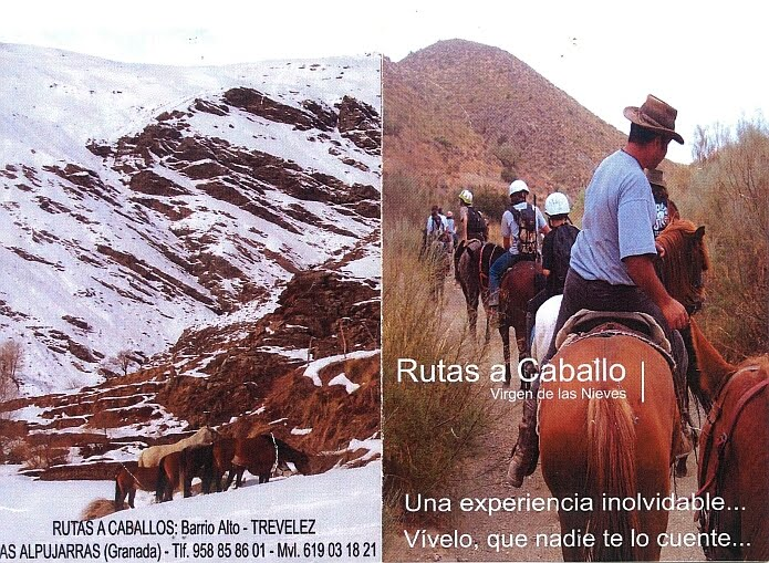 Rutas a caballo Virgen de las Nieves - photo: leaflet copy