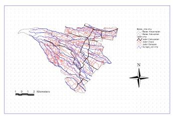 membuat peta dengan menggunakan program Arc View 3.3, disertai dengan ...