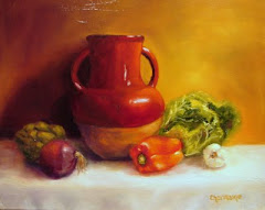 Red Jar With Veggies - 16X20