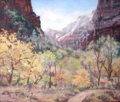 Zion, Spring Weeping Rock Trail, 20x24 Oil on Canvas board