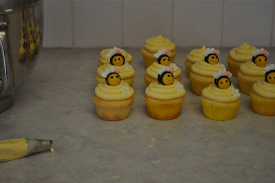 My First Real Cupcake Order Thank You So Much Jeanette The Theme Of Baby Shower Was Bumble BeesI Made Two Different Flavor Cupcakes Chocolate And