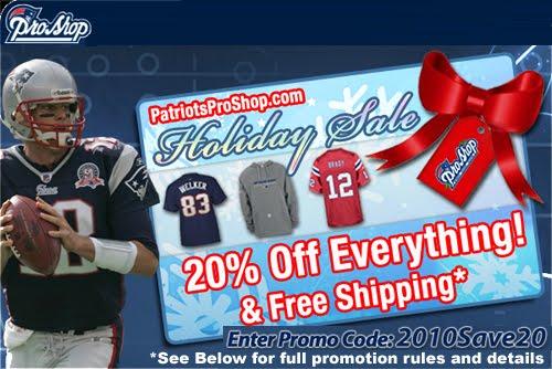 Patriots pro shop coupon code