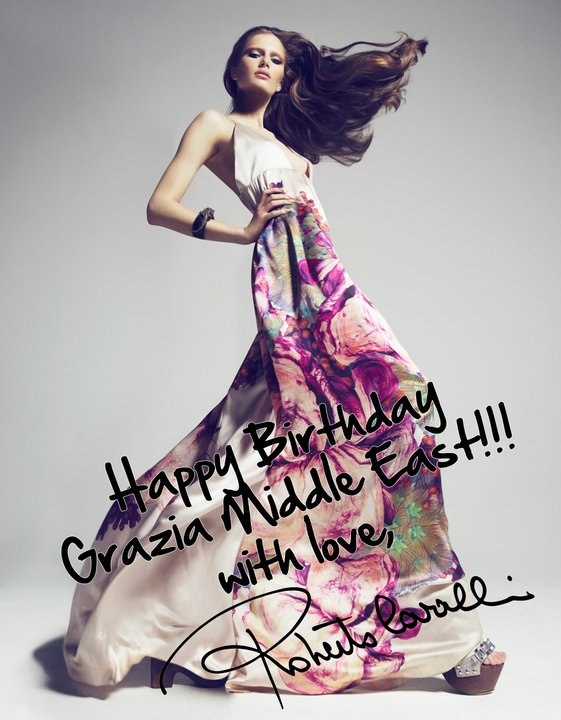 Happy Birthday Roberto. from Roberto Cavalli