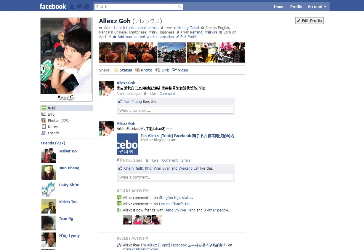 Facebook] 面子書新的profile樣式