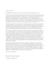 Letter From the Archbishop of San Francisco