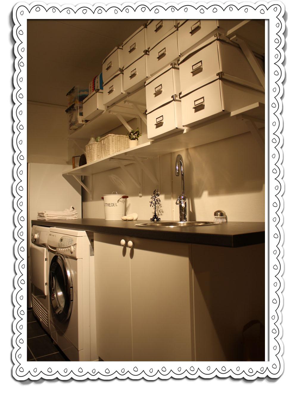 Mammas russin: renovering   tvättstuga