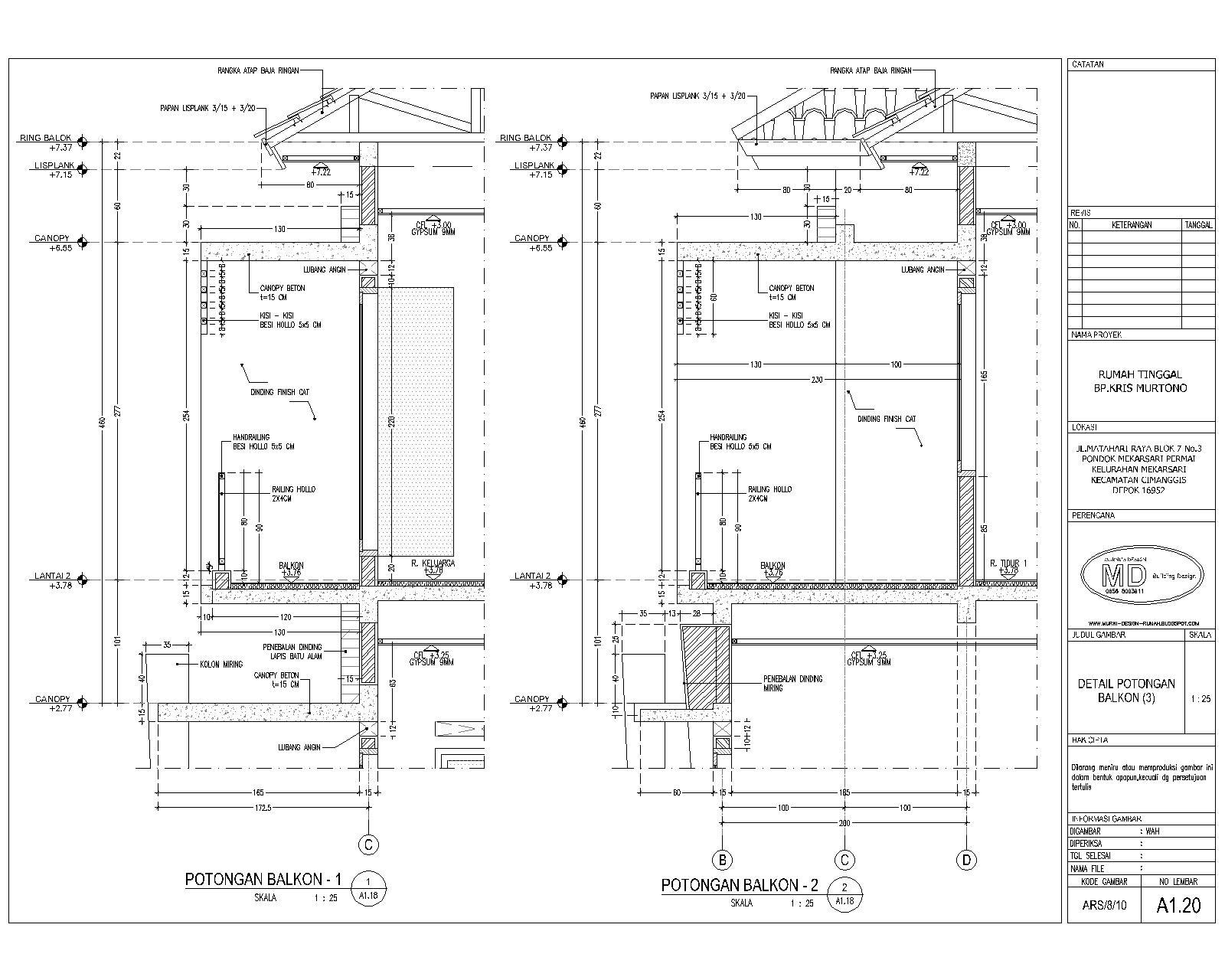 Jasa Desain Arsitek Rumah Murah : 15rb/M2
