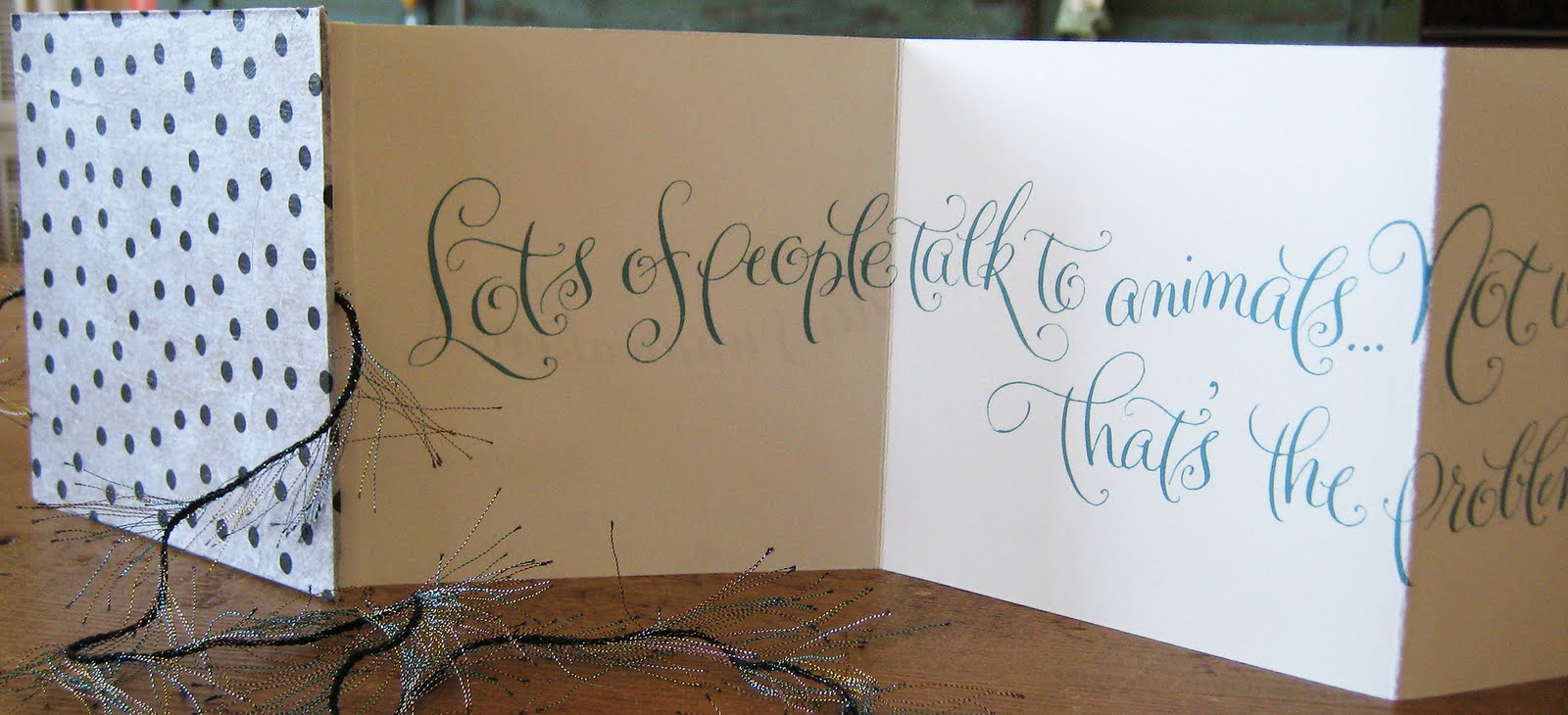 A To Z Calligraphy Accordian Book