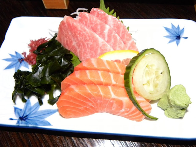 Sashimi from Salmon and Tuna