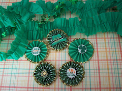 rosettes for St. Patrick