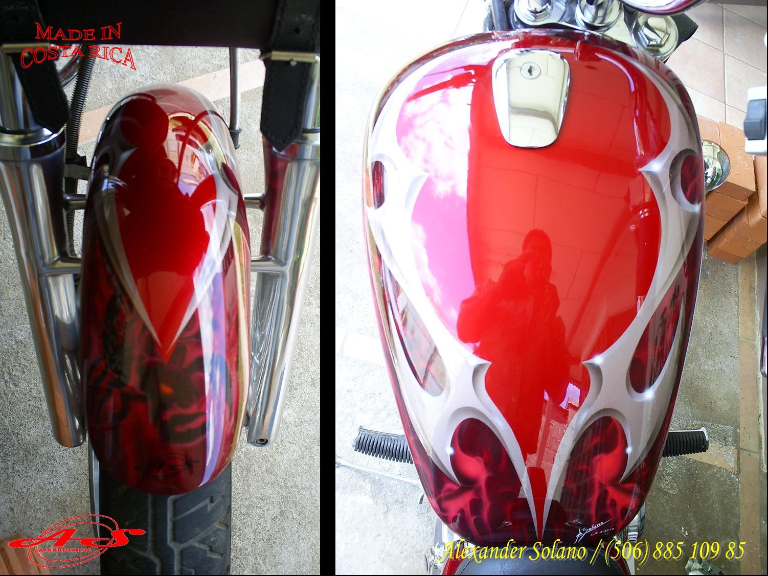 Aerografías de tríbales en motos - Imagui
