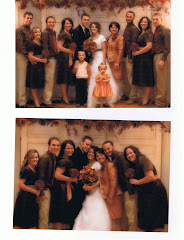 The whole family at Melanie and Cody's wedding