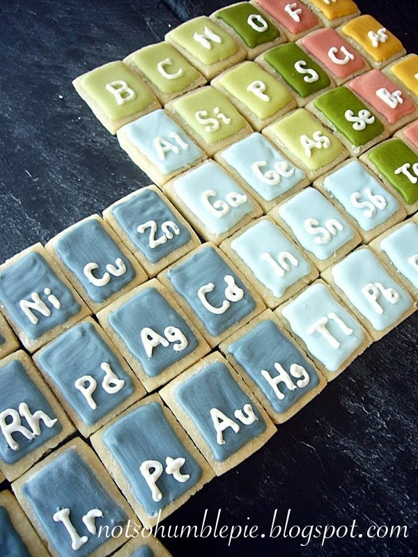 Not so humble pie science cookies periodic table yes i know i left off the lanthanides and the actinides and those flakey unun elements too i ran out of dough sorry when i make these cookies again urtaz Choice Image