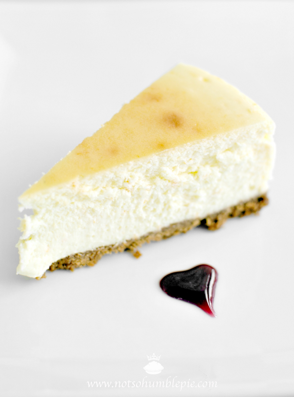 Not So Humble Pie: Orange Blossom Cheesecake with Pomegranate Honey