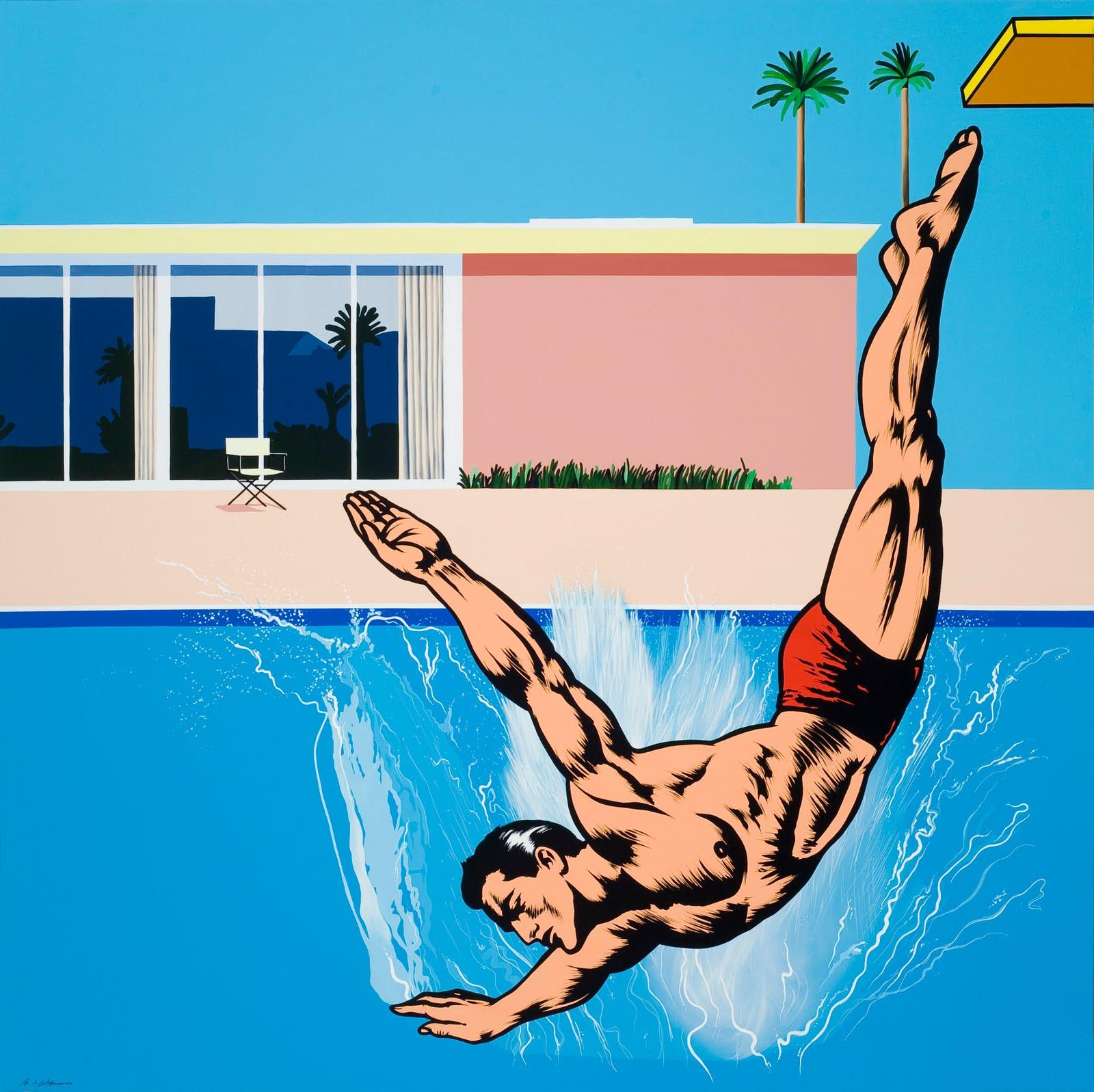 6 el gran salto o tirarse a la piscina x 200 cm for Tirarse a la piscina