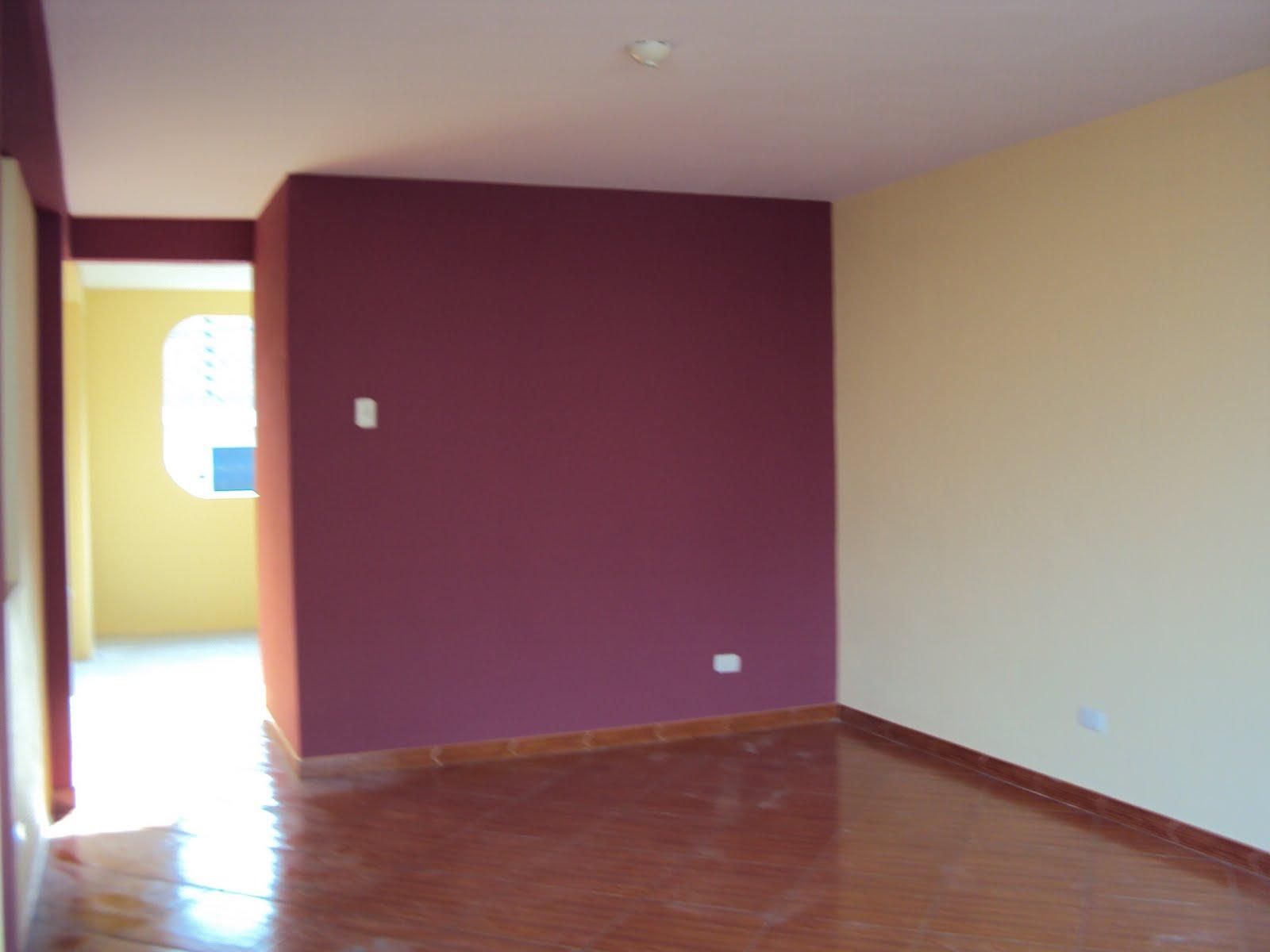 Pintandoelperu trabajo realizado en s j l cambiando el - Combinacion colores paredes ...