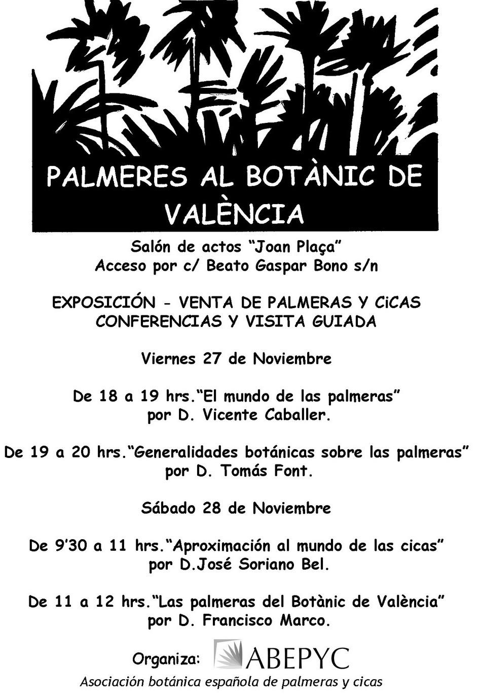 Conferencias sobre palmeras en el bot nico de valencia - Jardineria la font ...