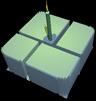 Windows 1.0 logo birthday cake with candle