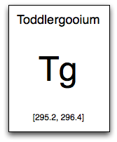 Toddlergooium periodic table entry