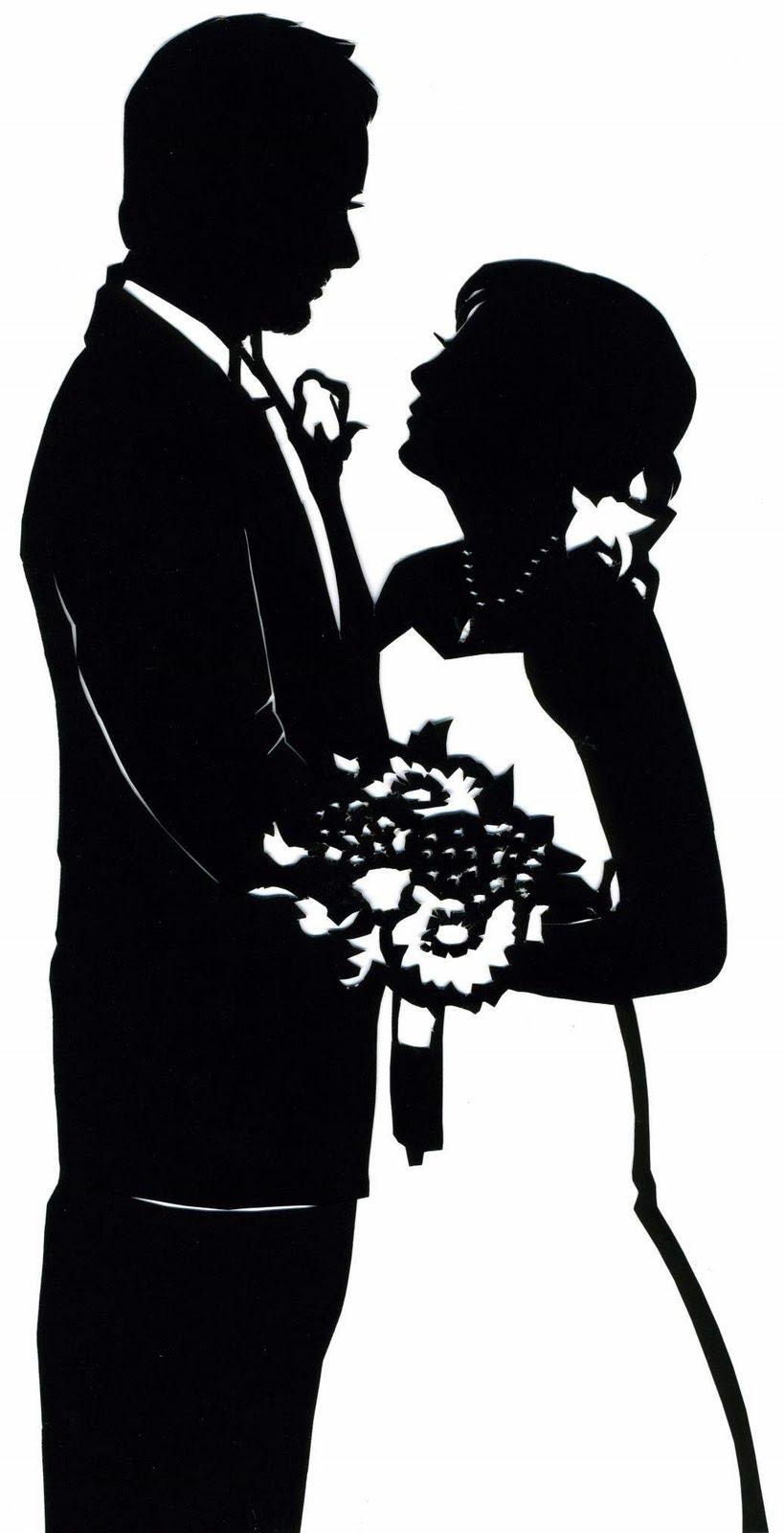 Paperportraits custom wedding silhouette custom wedding silhouette junglespirit Gallery