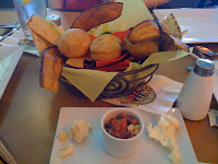 Johnny Cakes and Junkanoo chips with dips and butters