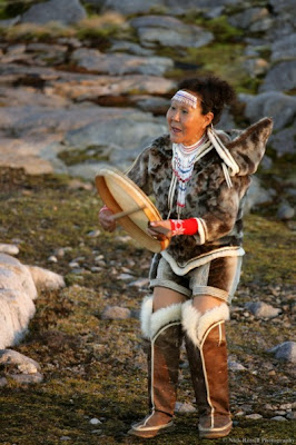 Inuit drum