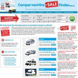 Campervan Hire Sale Finder
