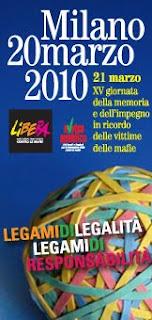 GIORNATA MEMORIA VITTIME MAFIE 2010