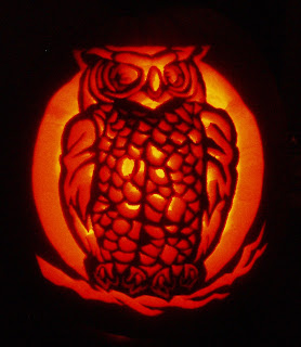 Cells in culture october 2007 for Spooky owl pumpkin stencil
