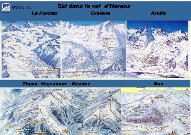 Ski dans le val d'Hérens