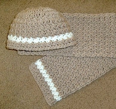 free crochet patterns hat and scarf set for infants