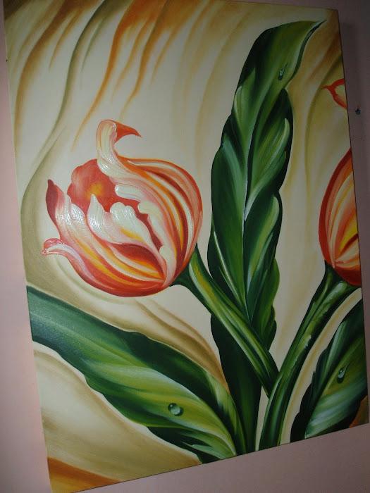 quadro  pintado - oleo