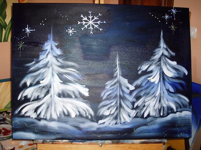 quadro de inverno - D. Anita