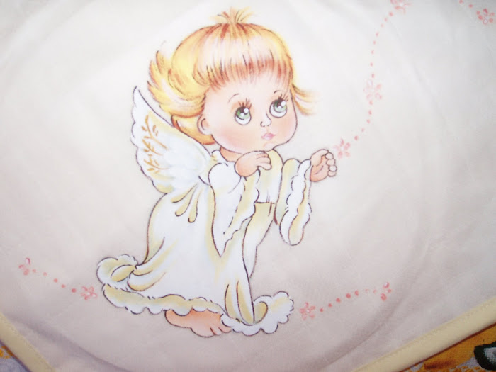 anjo  para fralda de batizado