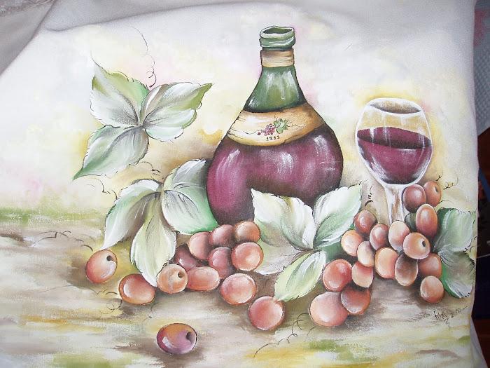 quadro de cozinha-pintura em tecido