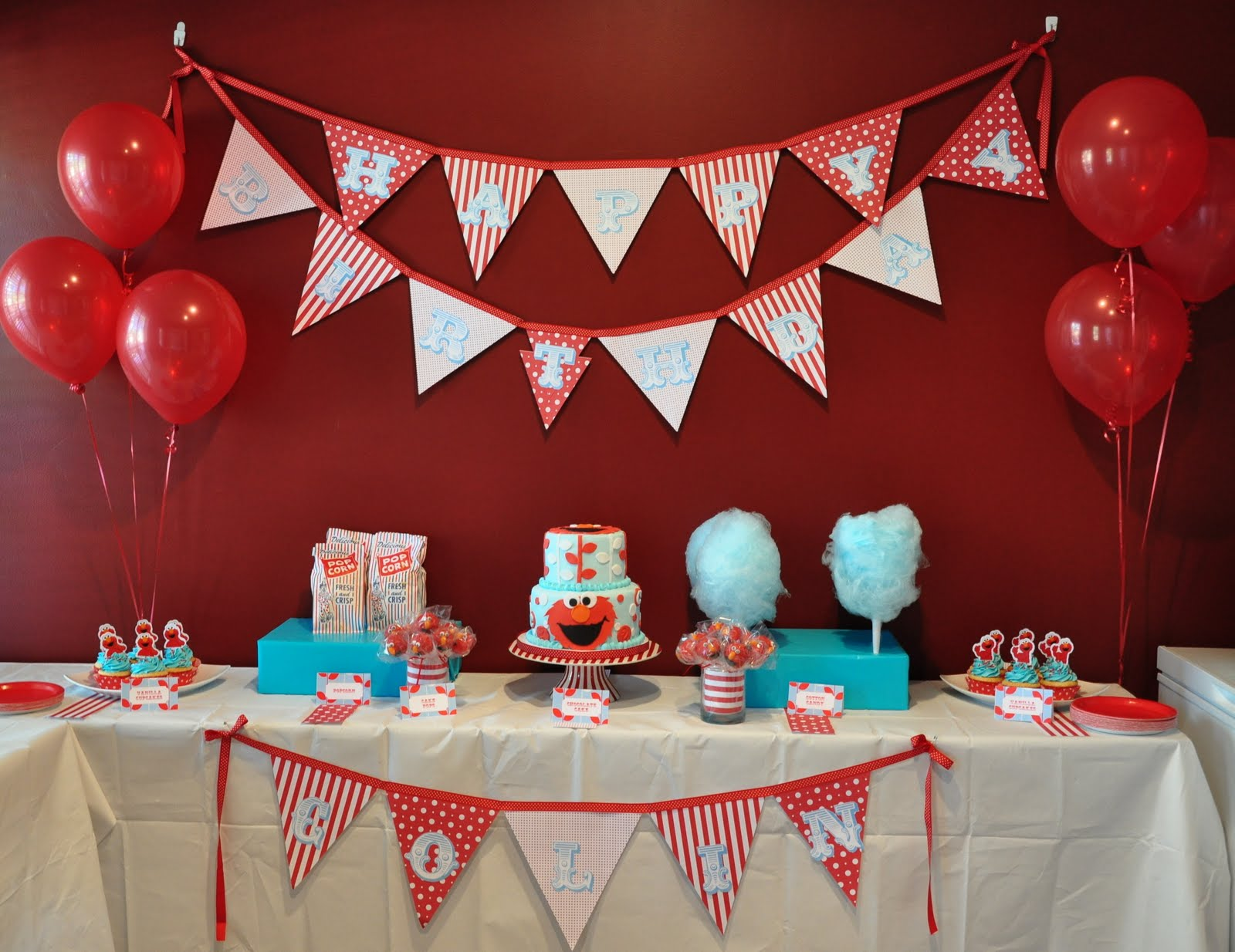 Im Leaning More Toward An Elmo Themed Party And This One Gave Me Some Great Ideas I Like The Colors They Chose Cake It Super Cute
