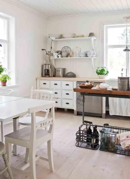 Schwedenhaus inneneinrichtung  Trendwelt: Weißes Schwedenhaus!