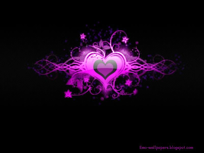 emo wallpapers. wallpaper heart emo.