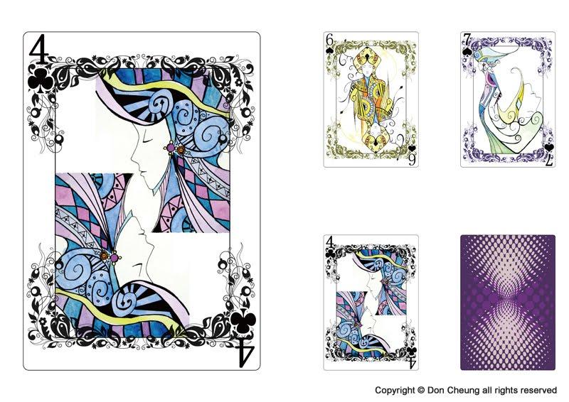Poker card design