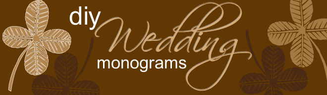DIY Wedding Monograms