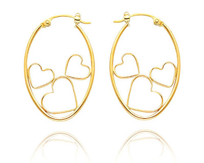 Hearts Hoop Earrings