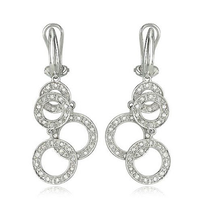 Diamond Circles Earrings