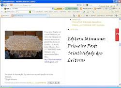 Minha Toalha no Blog da Editora Minuano