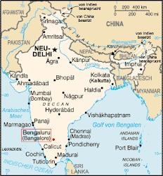 Indien mal als Karte