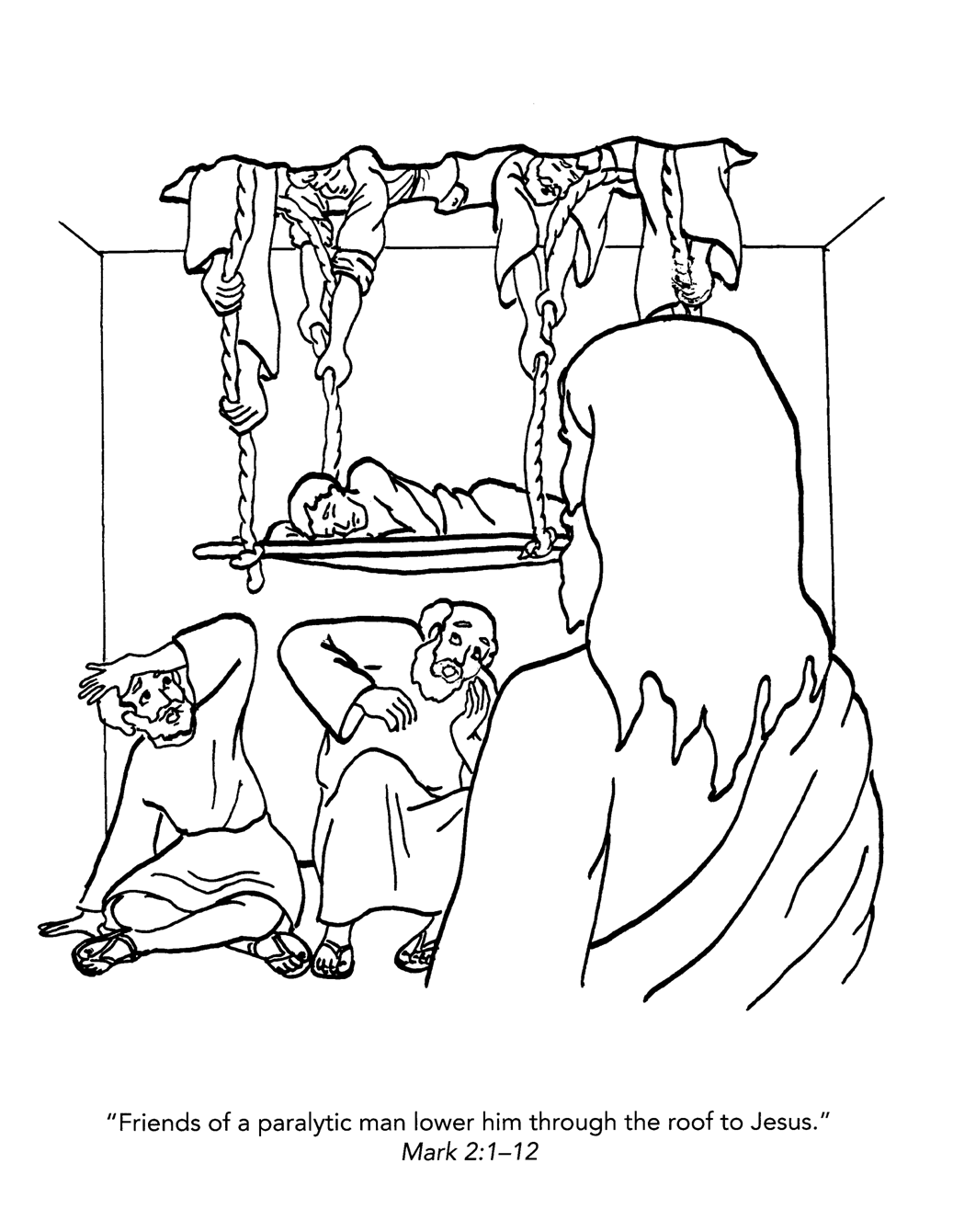 Familia Católica: Páginas para Colorear sobre el Evangelio según San ...