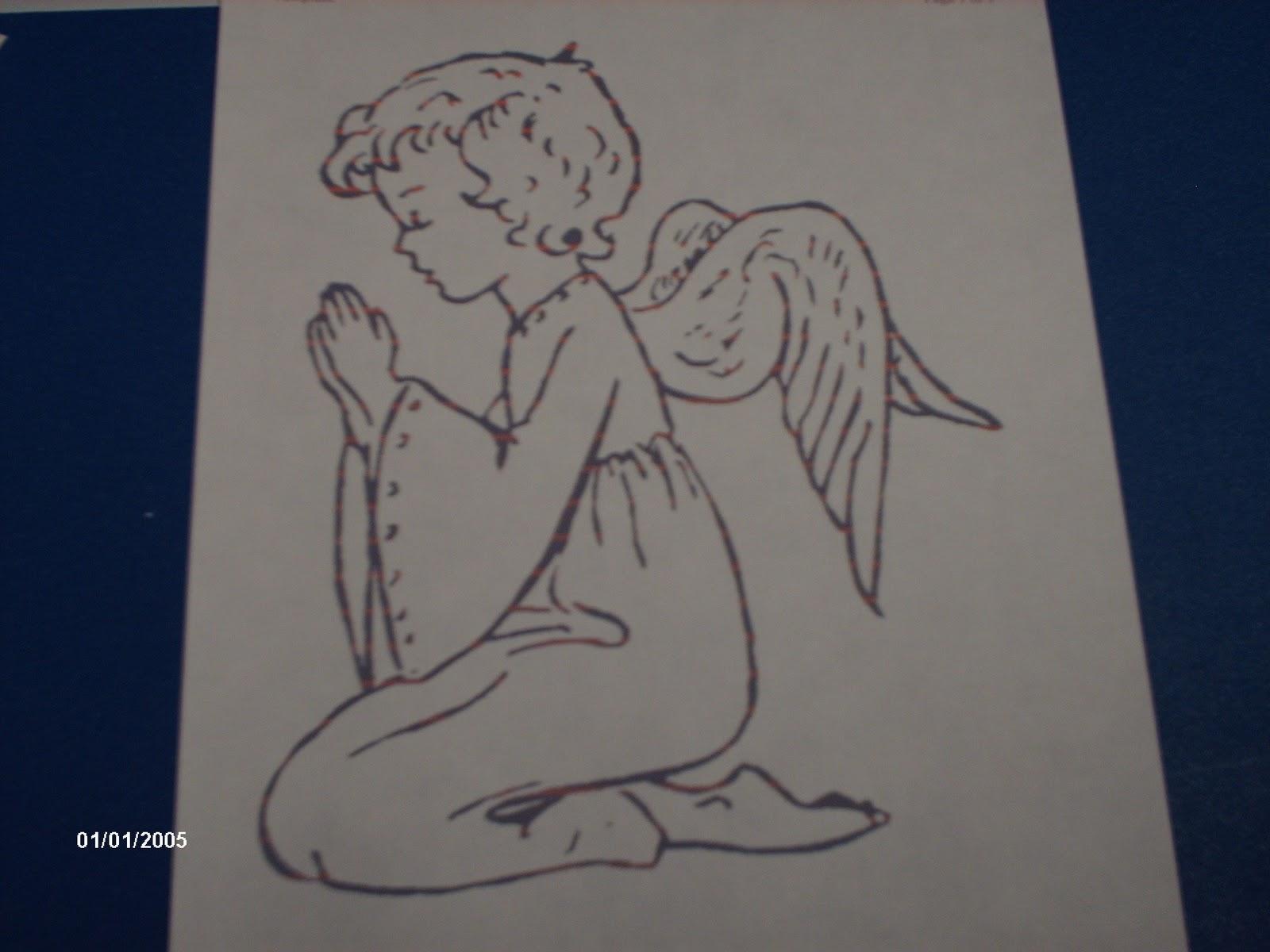 Familia Católica: Páginas para colorear del Ángel de la Guarda - 2 ...